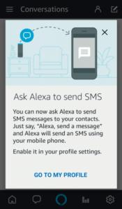Inviare SMS con Alexa